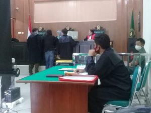 Gelar Sidang Perdana Pengadilan Negeri Suka Jadi,Pengeroyokan Wartawan