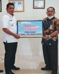 H Askolani SH MH Bupati Banyuasin Kepala Bank Sumsel Babel Cabang Pangkalan Balai Akhmad Suharmanto SE MM