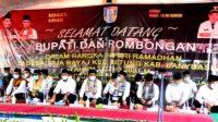Suasana Agenda rutinitas Pemkab Banyuasin dalam Bulan ramadhan, safari ramadhan kali ini dilaksanakan di Desa Taja Raya I Kecamatan Betung Kabupaten Banyuasin, Jumat (22/4/2021).