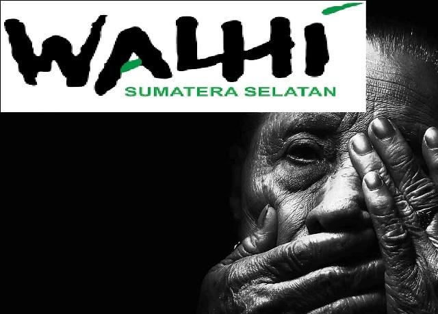 walhi sumsel logo dan ilustrasi Pembungkaman (credited Walhi Sumsel dan Yourquote)