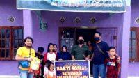 Aksi Empati Satreskrim Banyuasin Bagikan Sembako Di Masa Pandemi