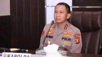 Kapolda Sumsel Irjen Pol Prof. Eko Indra Heri, S. M.M., menerima Audiensi Perwakilan Pengelolah Mall di Palembang. Senin, (3/4/2021). Bertempat di Ruang Promoter lantai II Mapolda Sumsel.