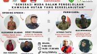Banner Utama ACARA Webinar HAKI terkait peran Pemuda terhadap Perhutanaan Sosial