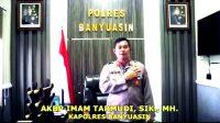 Kapolres Banyuasin, Sumatera Selatan, AKBP. Imam Tarmudi, SIK, MH