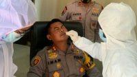28 Personel Polres Banyuasin Ikuti Tes Swab Termasuk PJU, Disebut Kesehatan Modal Utama Melindungi Melayani Dan Mengayomi