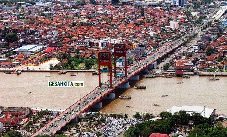 Air Shot Palembang City South Sumatera Indonesia ( credited Pinterest)