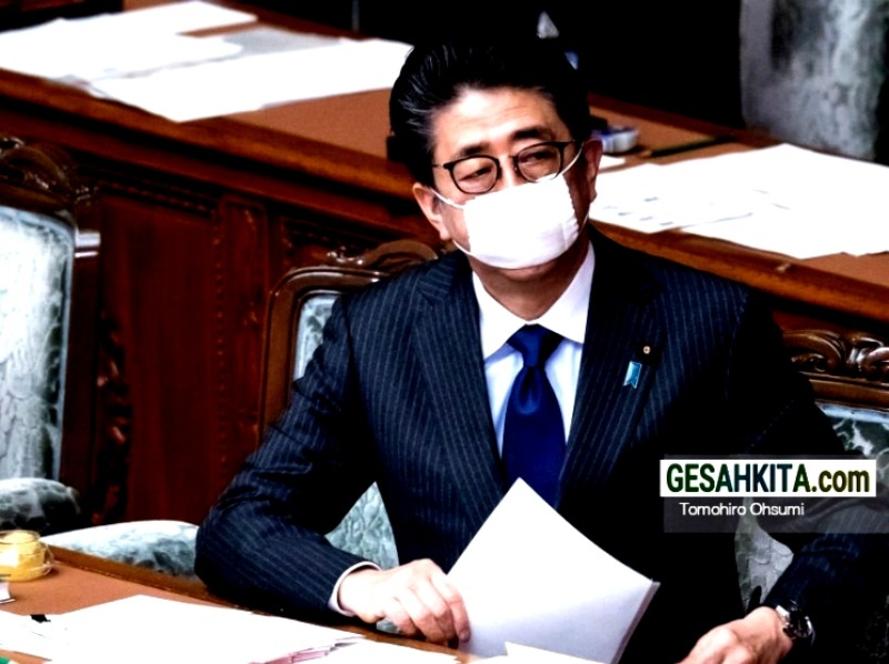 Former Prime Minister Shinzo Abe, (credited gettyimages)