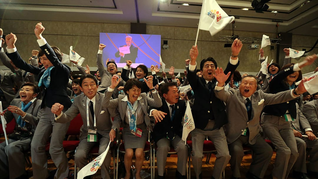 Former Prime Minister Shinzo Abe, (credited Olympics Sites)