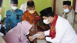 Bupati Banyuasin Sholat Jum'at Bersama Warga Desa Majatra