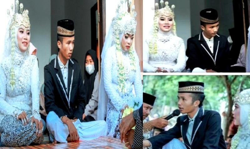 Tangkapan Layar Video Pria Lombok Nikahi 2 wanita