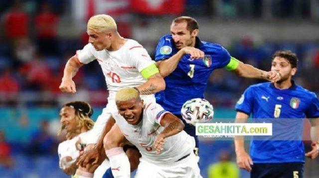 Sengit Diudara, tampak Chiellini dengan aksi nya final Euro 2020 lalu tandukan dan tarikan nya menjadi alasan salah satunya lahirnya petisi