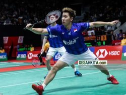 Olimpiade Jepang : Jagoan Badminton Indonesia, Marcus dan Kevin Di Grub Maut