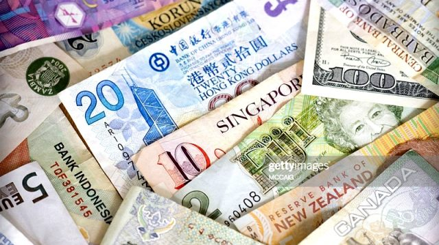 Foreign currency from various counties (credited getty Images)