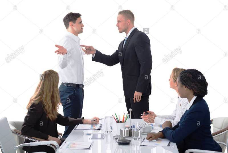 Ilustrasion Picture Boss get mad at a meeting (Credited Alamy)