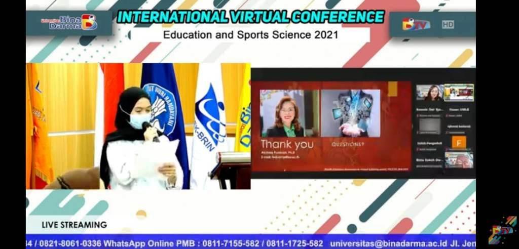 Suasana 2nd Incess 2021 Hosted by Bina Darma University