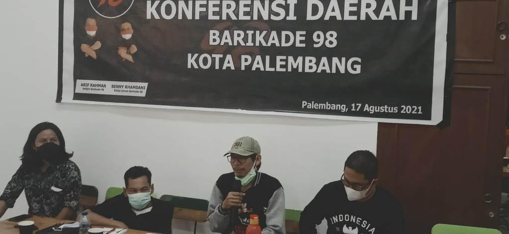barikade 98 Palembang usai konferensi Pers