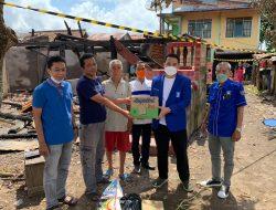 DPD PAN Muba Sambangi Keluarga Korban Rumahnya Dilalap Si Jago Merah