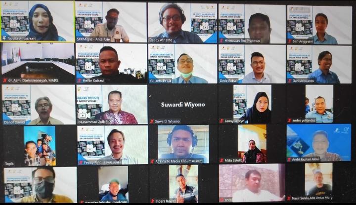 Tangkapan Layar webinar digelar Medco