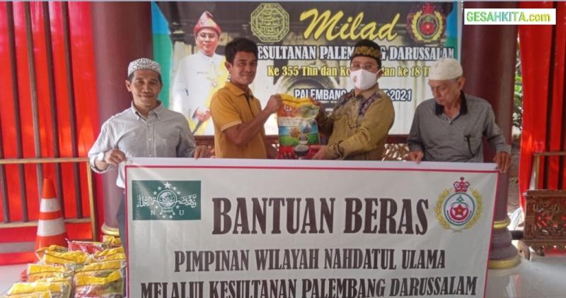 Suasana Dimana Saat SMB IV Bagikan Beras Ke Pembakti Kesultanan Palembang Darussalam