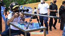 Suasana Saat Danlantamal IV Resmikan lapangan Tembak dan Mushala