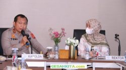 Tampak Akrab Diskusi Antara Kapolda Sumsel Denga Rektor uin Raden fatah Palembang
