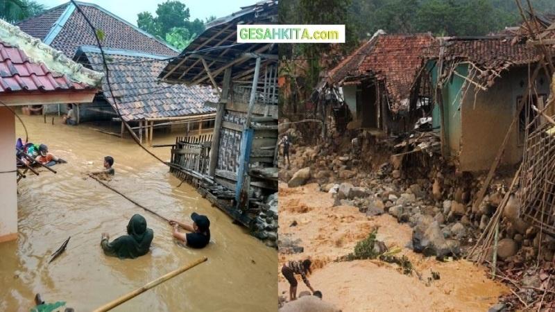 Gambaran Keganasan Banjir Bandang Akibat manusia tidak bisa mengelolah lingkungan Hidupnya