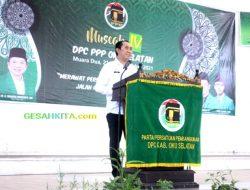 Popo Hadiri Muscab DPC PPP 2021 Oku Selatan Berharap Senergi Dalam Pembangunan