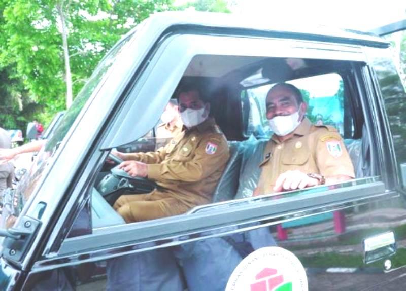 Askolani Bupati Banyuasin saat Drive Pick up untuk Bumdes