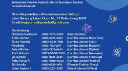Banner Festival Literasi Dinas Perpustakaaan Sumsel