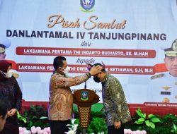ACARA MALAM PISAH SAMBUT TANDAI BERAKHIRNYA LAKSMA TNI INDARTO BUDIARTO,S.E., M.Han JABAT DANLANTAMAL IV