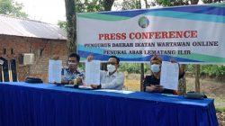 Rehabilitasi Nama Baik Wartawan, PD IWO PALI Gelar Press Confrence