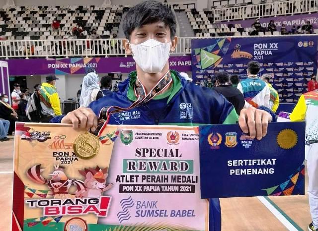 Fajar Ali Atlet Senam Sumsel Raih Emas Pertama Asal Sumsel