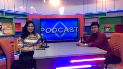 Tangkapan Layar Suasana Studio Podcast Kampus UBD live streaming